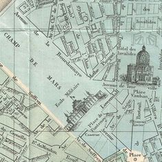 Map of Paris 1864 | Old Maps of Paris