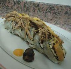 Mini sushi de pabellón criollo con aderezo de papelón - 8vo concurso de Cocina - Estampas