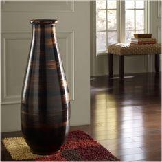 large floor vase - Wooden Floor Vase