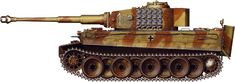 Tiger H/E camouflage patterns - Eastern Front, April 1944 sPzAbt507