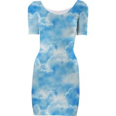 Clouds Short Sleeved Bodycon Dress - Available Here: http://printallover.me/collections/sondersky/products/0000000p-clouds-30