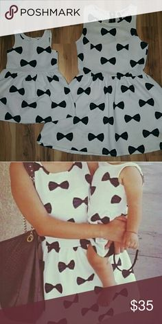 Mommy daughter bow dress Mom size S Toddler dress size 1 1/2 - 2y $35.00 shipped through pp H&M Dresses Midi