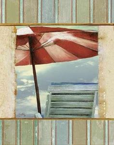 Chaise de Plage II Canvas Art - Elizabeth Medley x Beach Scenes, Your Space, Surfboard, Decoupage, Nautical, Canvas Art, Tapestry, Art Prints, Outdoor Decor