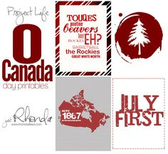 Project Life Fridays: Canada Day Printables – Just Rhonda Project Life Layouts, Project Life Cards, Canada Day Shirts, Mini Albums, Canada Day Crafts, Canada Day Party, Canadian Things, Canada Holiday, Happy Canada Day