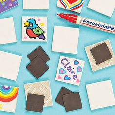 Ceramic Tile Magnets (Pack of 10) Baker Ross http://www.amazon.co.uk/dp/B005NICA7U/ref=cm_sw_r_pi_dp_rqe8tb0EXNJ3T