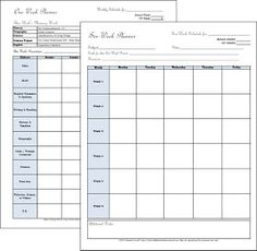 Half-a-Hundred Acre Wood: Cycle 2 Weekly Planners