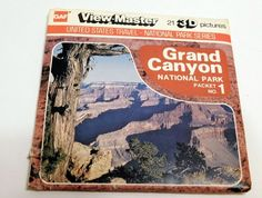 Grand Canyon #1 GAF Viewmaster Reels Vintage 3D Pictures J-80 1978