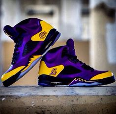 Los Angeles Lakers Purple and Gold High Tops