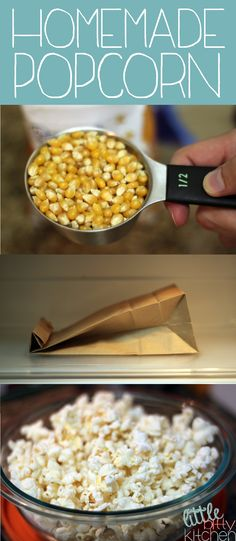 Homemade DIY Popcorn on MyRecipeMagic.com