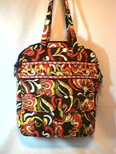 Vera Bradley Tall Zip Tote in Puccini. organizer laptop pocket tote diaper bag carryon NWT Retired.