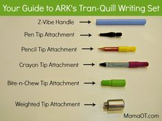 Helpful guide to sensory writing tools to help with fine motor, sensory processing, and attention!