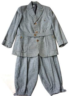 c. 1920's boy's belted wool knicker suit. HUVC has a wonderful selection of boy's items from about 1900 through 1970s.