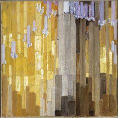 Ordonnance sur verticales en jaune | Kupka Frantisek (1871-1957) | Réunion des Musées Nationaux-Grand Palais