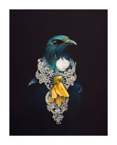 She Of The Kowhai Tree by Jane Crisp - Art Prints New Zealand Nz Art, Art For Art Sake, Tui Bird, New Zealand Art, Maori Art, Kiwiana, Bird Art, Crow Art, Art Inspo