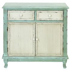 blue and white cabinet