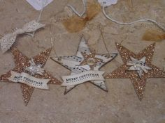Chipboard Star Ornaments by lisacurcio2001 - Cards and Paper Crafts at Splitcoaststampers