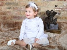Ptit Chic de Paris - Circus Dress & Top with feather hair band #girl's christening outfit #French christening outfit #designer christening outfit #designer baptism outfit #french baptism outfit #girl's baptism outfit #french christening dress #french baptism dress