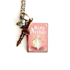 King Arthur Miniature Book Necklace with by AuntMatildasJewelry, $29.00