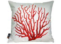 Coussin corail blanc et orange Merowings chez www.ksl-living.fr