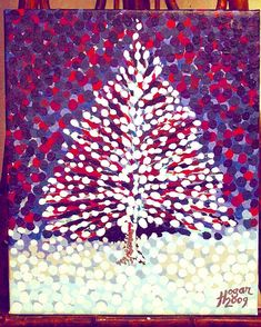 'The Snow Tree' (acrylic-on-canvas, 2009) ... #finland100_igchallenge 94/100... posting a series of random images (including some of my own art) from or associated with Finland to celebrate the country's 100th birthday! . . . #art #thesnowtree #instatree #snö #lumi #tree #artist #winter #christmastree #hoganfinland #canvas #konst #taide #finland #artcollection #fineart #artcollective #artistlife #artlife #painter #paintings #handpainted #artoftheday