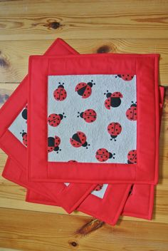 placemats ladybugs