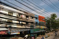 Cables and cables and cables. Phuket, Thailand.