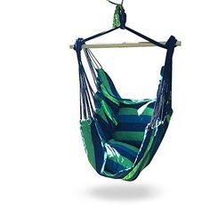 Hanging Hammock Swing Chair w/ Hook & Rope Outdoor Camping Yard Chair Seat NEW #HangingChair