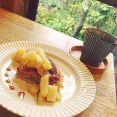 #oita#yufuin#naya#cafe#coffee#tarte#pie#apple#cinnamon#cake#sweets#dezert#food#大分#湯布院#カフェ#珈琲#タルト#パイ#りんご#シナモン#ケーキ#スイーツ#食べ物#happy#幸せ