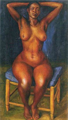 """artist-rivera: """" Dancer Resting, Diego Rivera Size: cm Medium: oil on canvas"""" Diego Rivera Art, Diego Rivera Frida Kahlo, Mural Painting, Figure Painting, Paintings, Frida E Diego, Clemente Orozco, Mexican Artists, African American Art"""