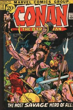 Cover for Conan the Barbarian (Marvel, 1970 series) #12