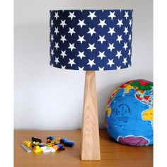 Handmade Blue Stars Table Lamp (£80.00) Gorgeous, fun and quirky gifts for you and your home Hunkydory Home