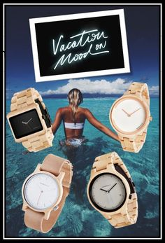 Vacation mode on! - Kerbholz Wood Watch, Latest Trends, Style, Fashion, Timber Wood, Wooden Clock, Swag, Moda, Fashion Styles