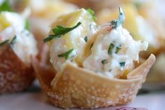 Shrimp & Mango Wonton Crisps