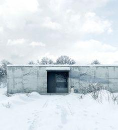HW by Rzemiosło Architektoniczne, via Behance Photoshop Rendering, Architecture Drawings, Architectural Elements, New Builds, Concrete, Design Inspiration, House Design, Snow, Places