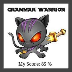 Check out this fun grammar quiz. The pics make you laugh! I got 85 % of questions right, so I'm a GRAMMAR WARRIOR http://writetodone.com/wp-content/plugins/viralquizbuilder/uploads/result_images/1ac7e6927f92c62195fe01e8210663ad.jpeg! http://writetodone.com/common-grammar-mistakes-quiz/