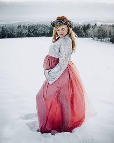 Schwangerschaftsfotos im Schnee