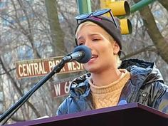 See video of as Halsey delivers an emotional poem about sexual abuse and rape at the Womens March NYC that brilliantly articulated the pain victims suffer.