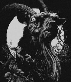 Better the Devil, you know! Creatures Of The Night, Weird Creatures, Baphomet, Black Phillip, Scary Art, Creepy, Goat Art, Witch Tattoo, Coven