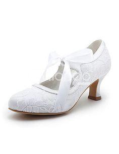 Michaels wedding department wedding shoe decoration customize stylish lace up chunky heel bridal wedding shoes junglespirit Choice Image
