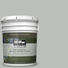BEHR Premium Plus Ultra 5 gal. #PPU24-17 Hailstorm Gray Semi-Gloss Enamel Interior Paint