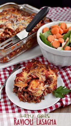 #easy #recipes / Ravioli Lasagna