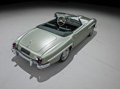 Mercedes Benz 190 SL draufsicht schraeg offen