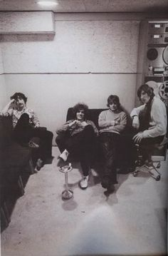 Recording session for Pink Floyd's debut album, The Piper At The Gates Of Dawn, at Studio 3, Abbey Road Studios, London, with EMI producer Norman Smith.