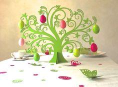 Osterdeko - Ostereierbaum pink - ein Designerstück von KoelnSchaetze bei DaWanda