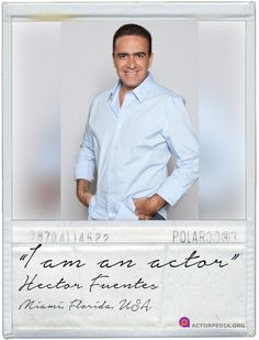 Actor Hector Fuentes!   #iamanactor    Actors, we welcome you to join Actorpedia! View more here: https://www.youtube.com/watch?v=4kQ9ZJ6F6vA
