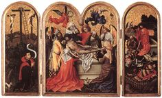 of Flémalle,Robert Campin The Seilern Triptych.Triptych with the Entombment of Christ.Joseph of Arimathea. Oil on wood.Courtauld Institute of Art, London. 60 x cm (central panel without frame), cm (wing without frame) Robert Campin, Joseph Of Arimathea, Medieval, Triptych Art, Renaissance Kunst, Great Works Of Art, Art Database, Religious Art, Oeuvre D'art