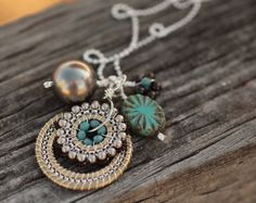 Bloom Charm Necklace  Moonlight  Jewelry by octaviabloom, $96.00