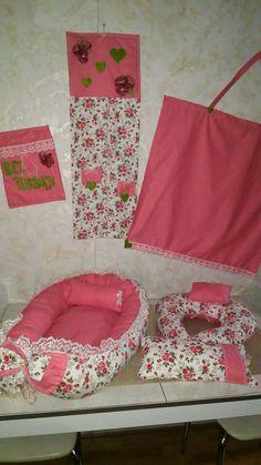 Babynest seti emzirme yastığı , emzirme bezi bez çanta ,bez askılık ,sipariş alınır istenilen renklerde yapılmaktadır