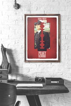 poster peaky blinders, tommy shelby wall art, poster thomas shelby, gangster, vintage poster, peaky poster wall art, tommy shelby, art. by iloveposter on Etsy https://www.etsy.com/listing/448527430/poster-peaky-blinders-tommy-shelby-wall