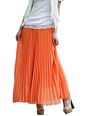 Women's Pleated Maxi Skirt – USD $ 18.89